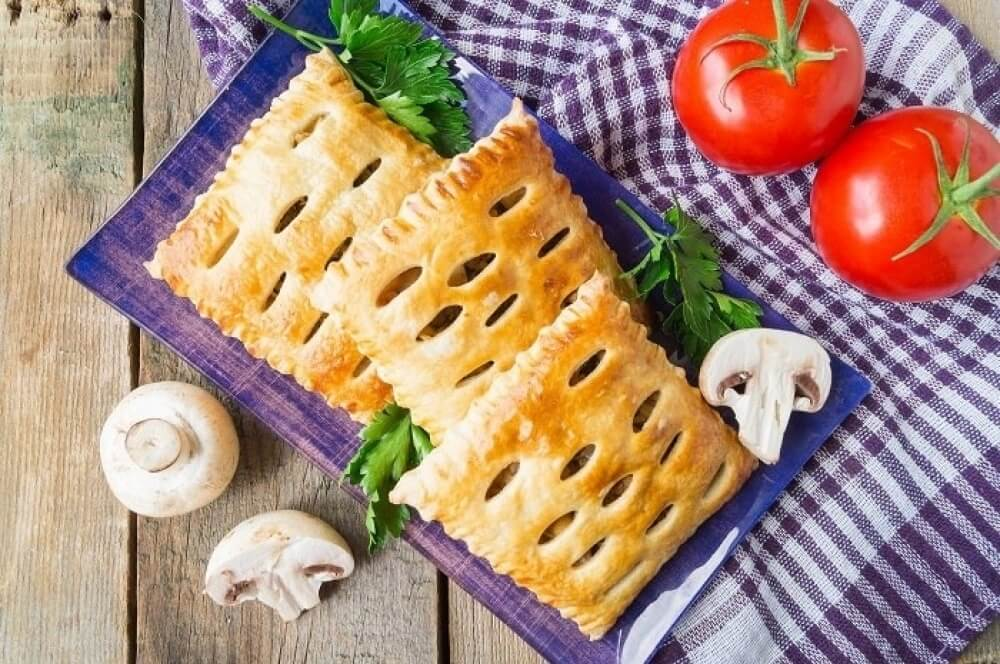 Chicken and Mushroom in a Puff Pastry Shell
