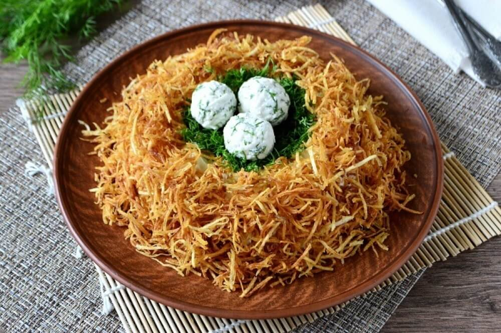 Russian Salad «Nest grouse»