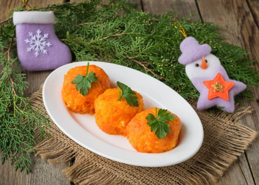 Holiday snack for New Year «Tangerine»