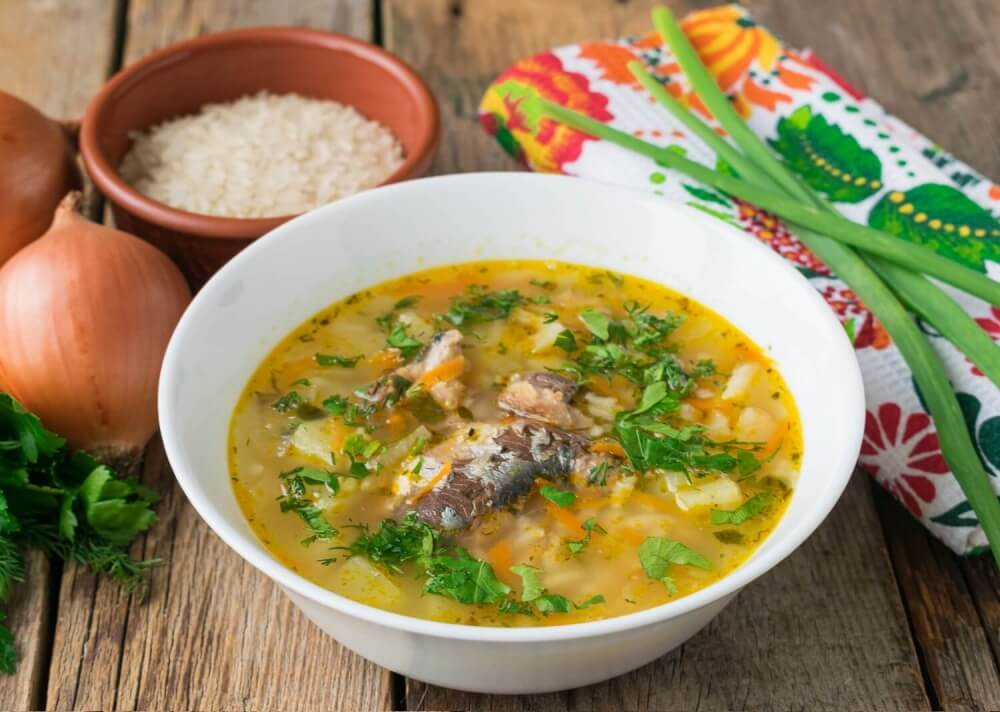 Canned Fish And Rice Soup Recipe