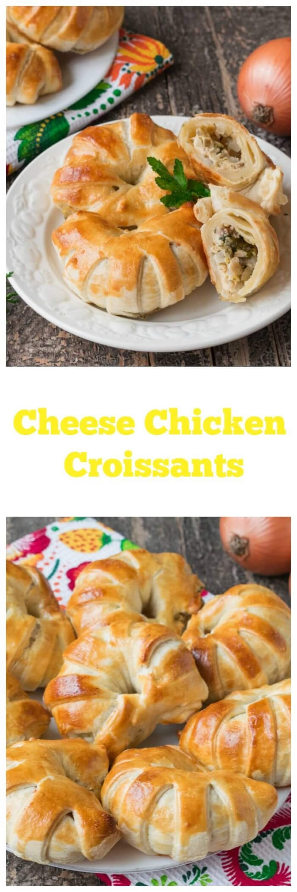Cheese Chicken Croissants