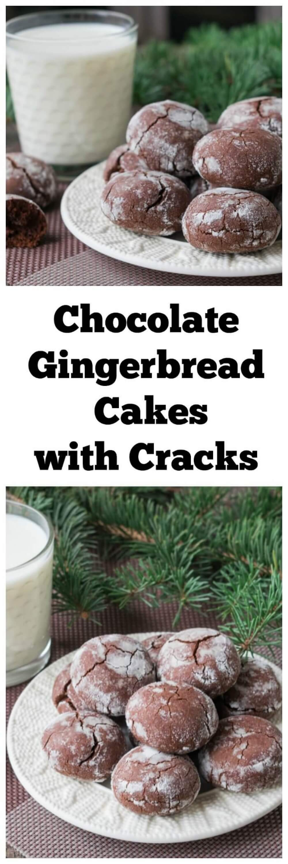 Chocolate Gingerbread Cakes with Cracks