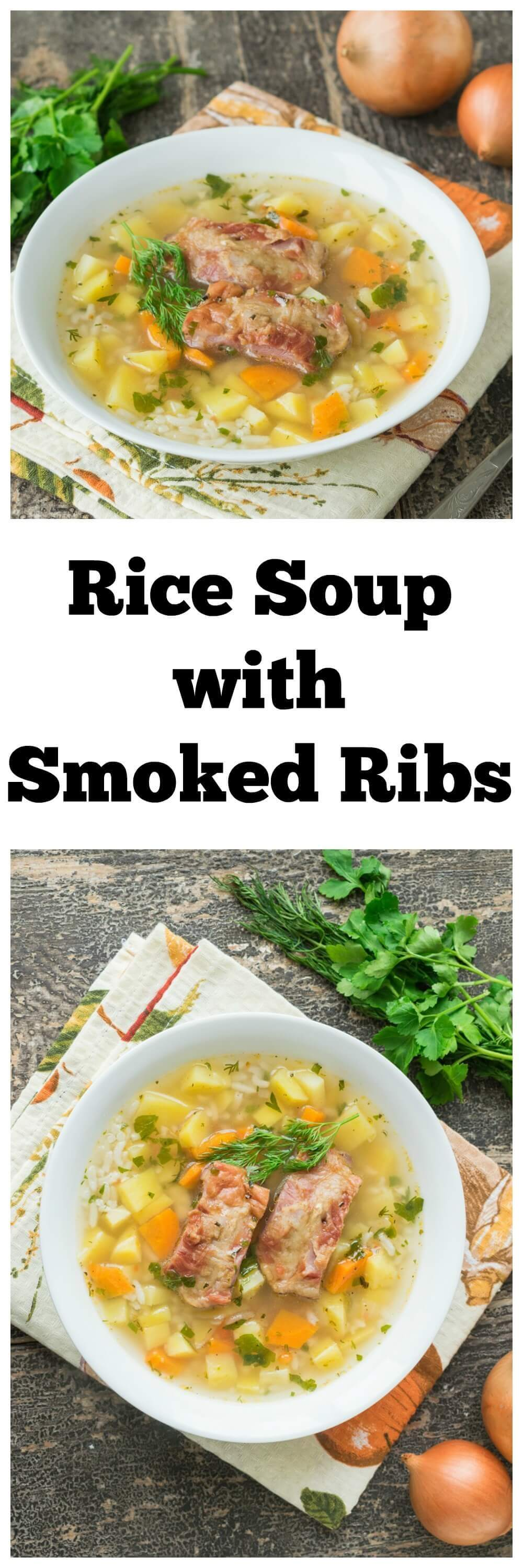 Rice Soup with Smoked Ribs
