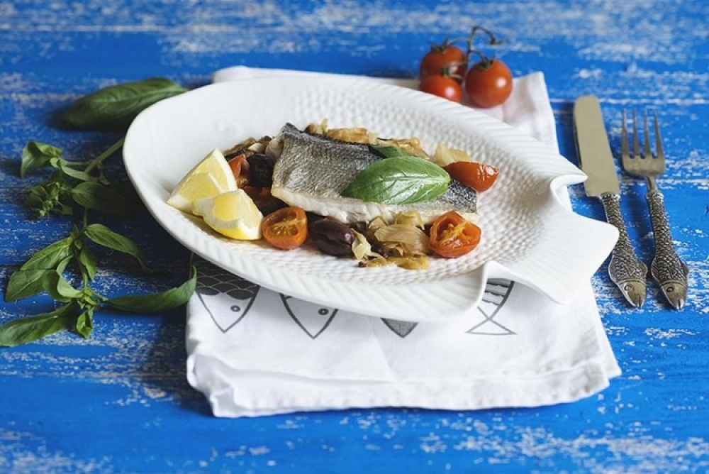 Papilot from sea bream