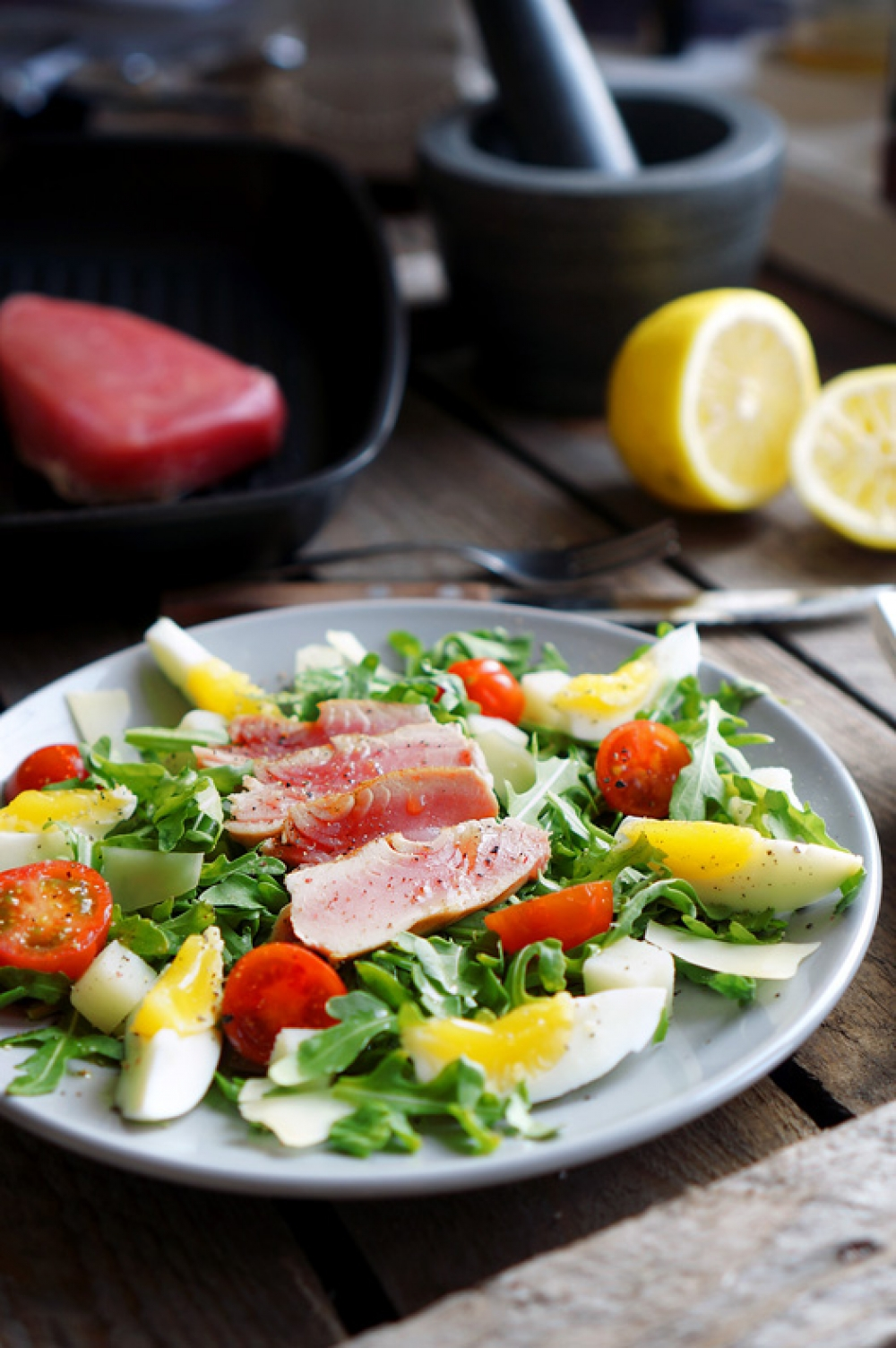 Nicoise Salad with Tuna and Branded Dressing