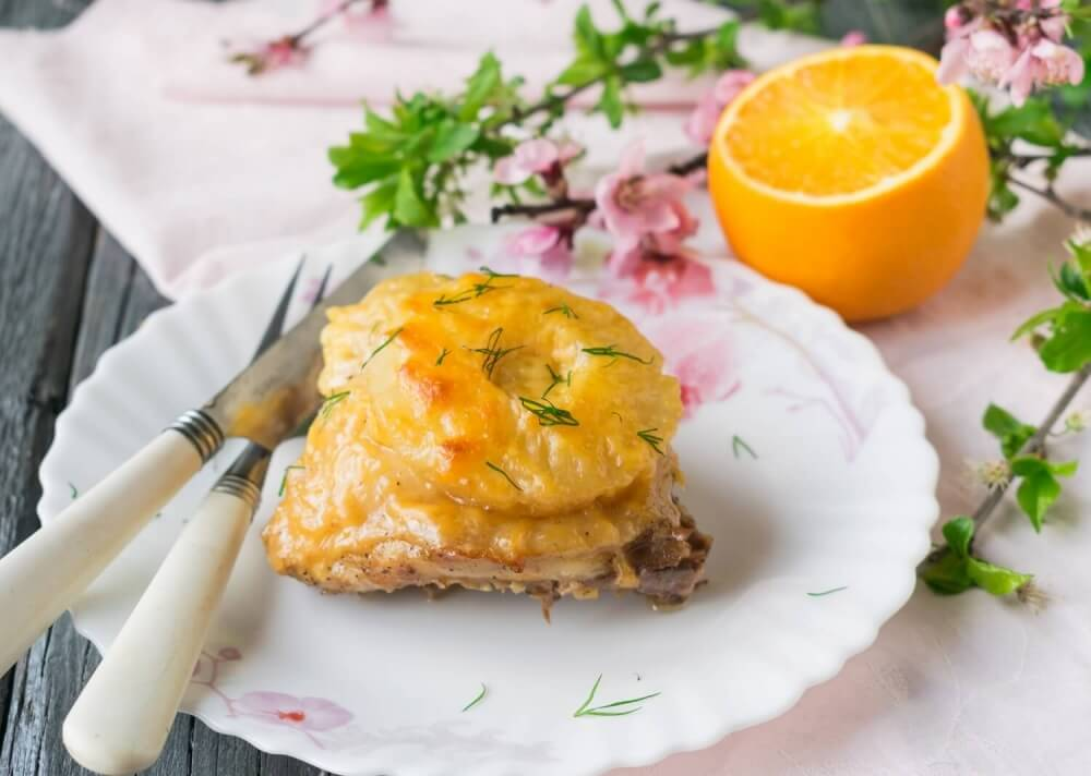 Chicken with Pineapple and Cheese