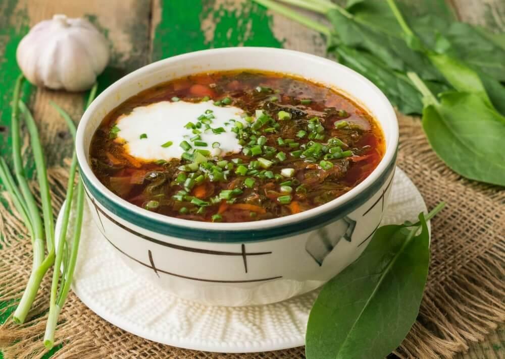 Ukrainian Green Borsch Sorrel Soup Recipe