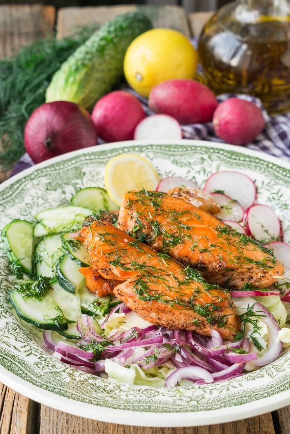 Salmon Vegetable Salad