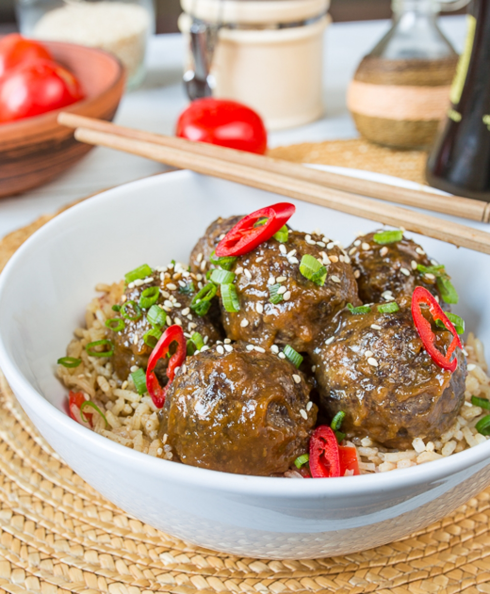 Sweet-and-Sour Korean Meatballs