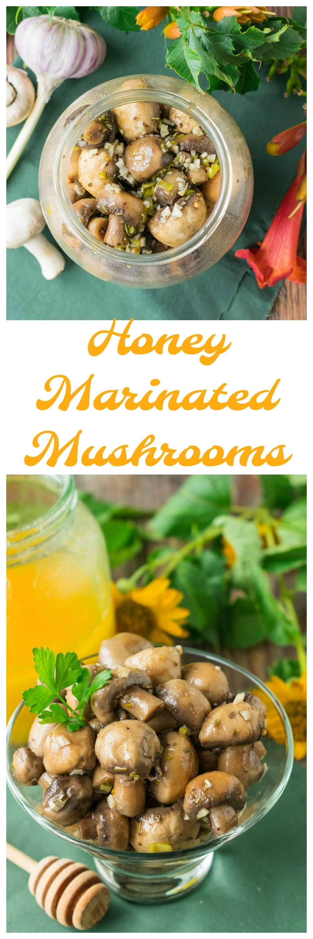 Honey Marinated Mushrooms