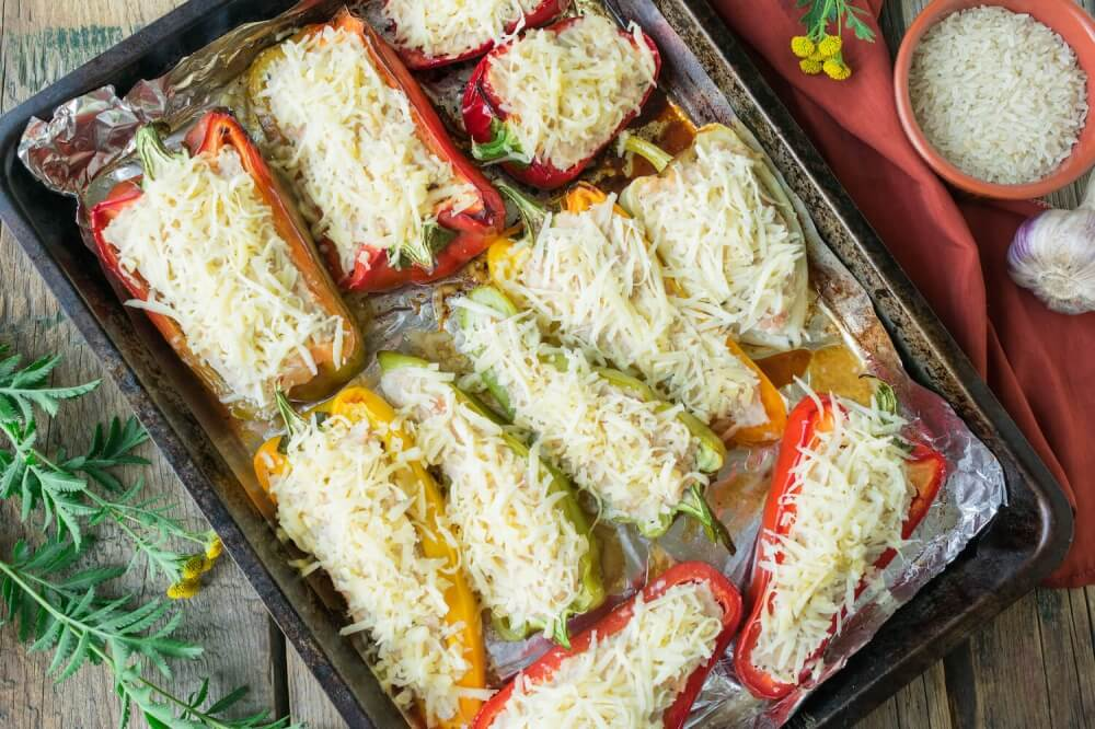 Russian Stuffed Peppers with Chicken and Rice