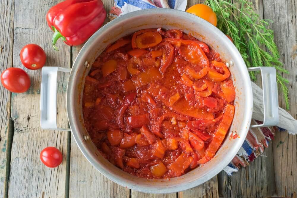 Russian Marinated Red Peppers (Lecho)