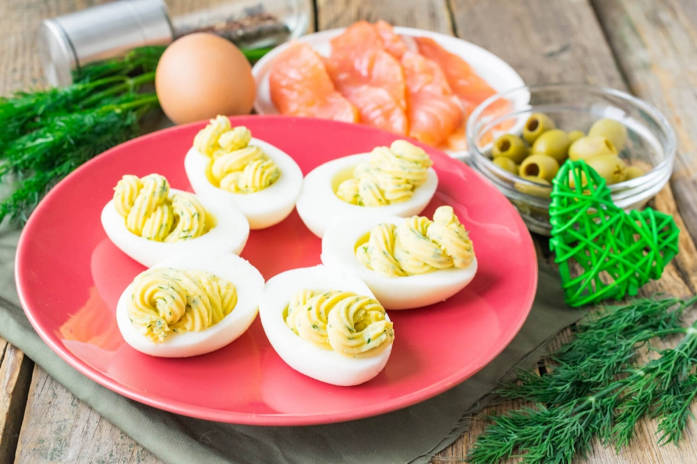 The Best Salmon Deviled Eggs