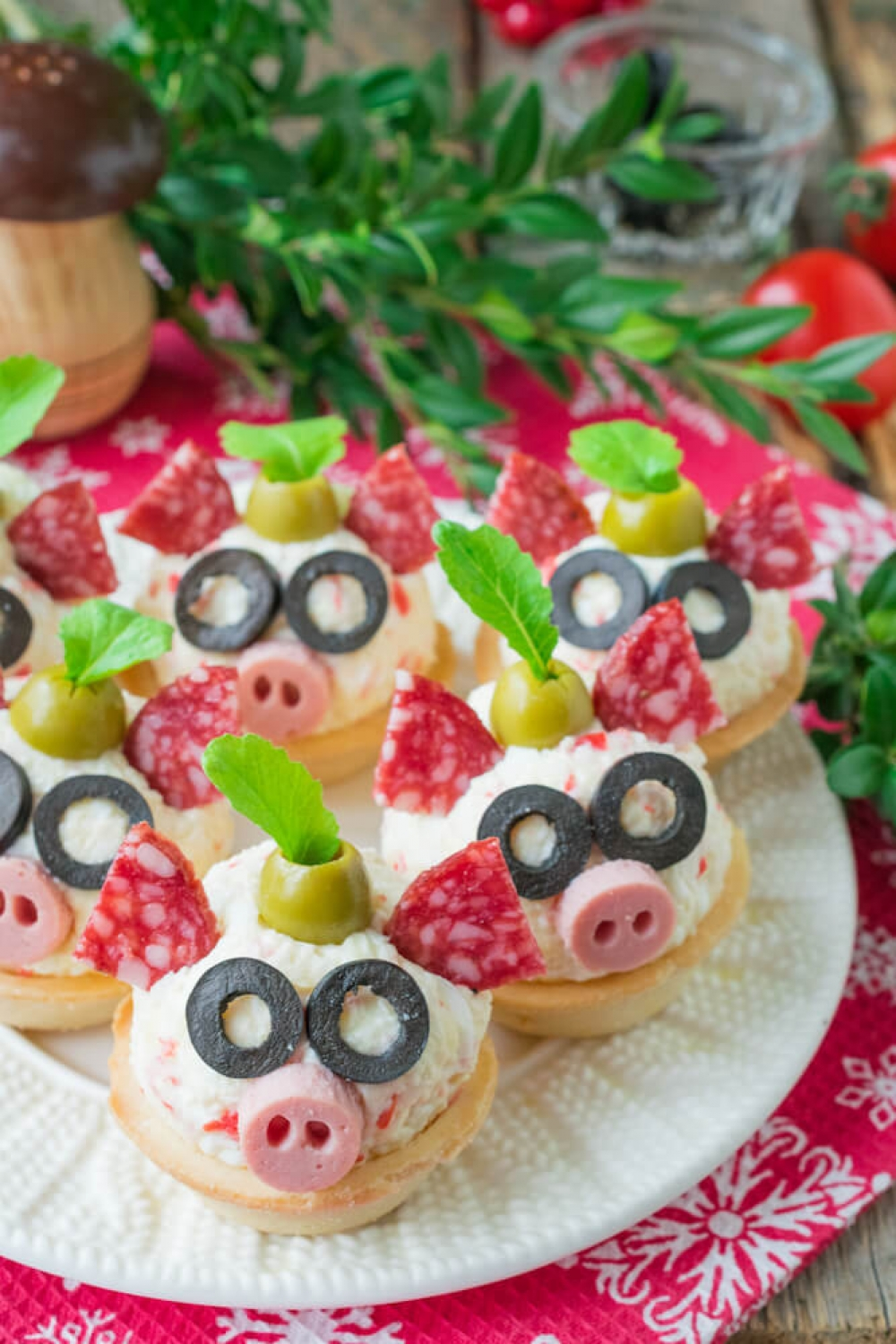 Crab Sticks and Processed Cheese Tartlets