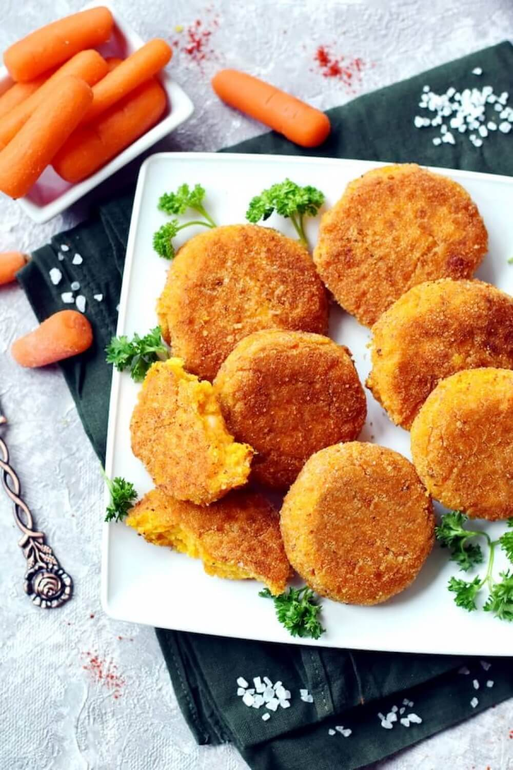 Cheesy Carrot Fritters