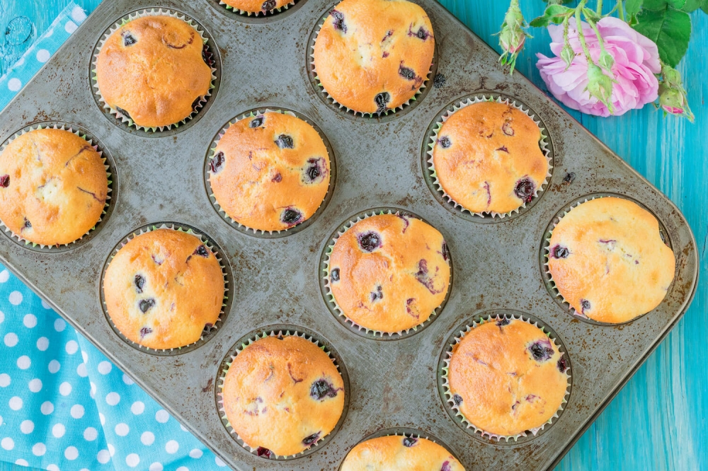 Blackcurrant Muffins