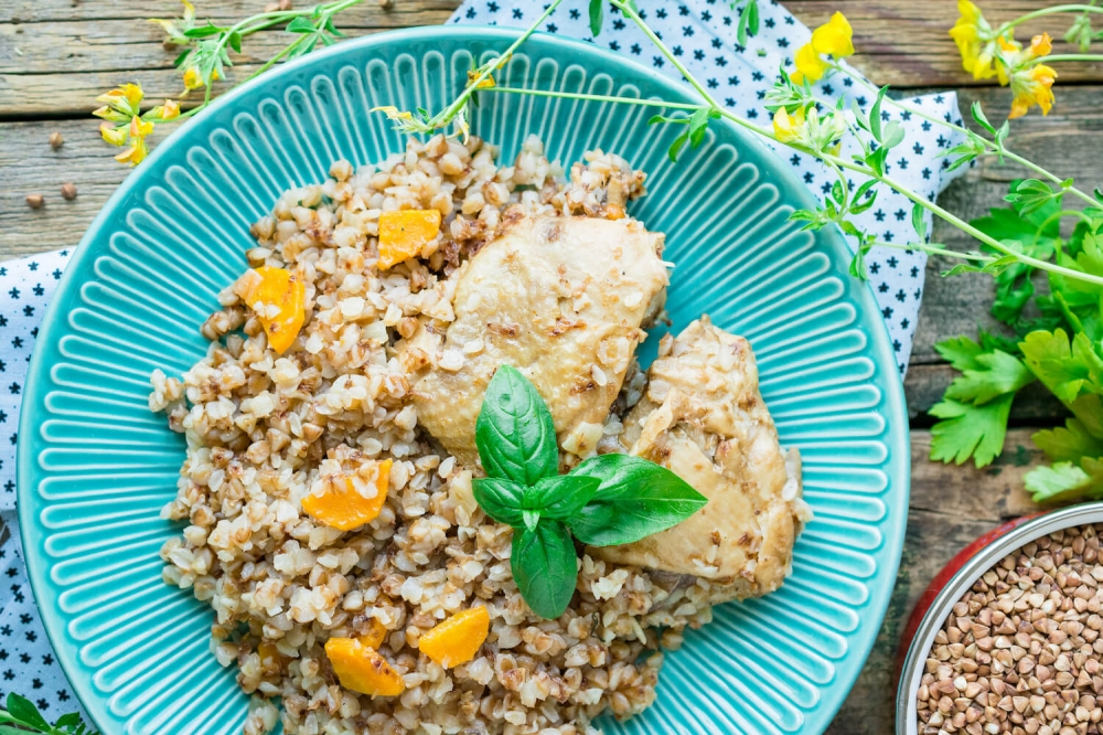 Buckwheat with Chicken and Vegetables in Multi-Cooker