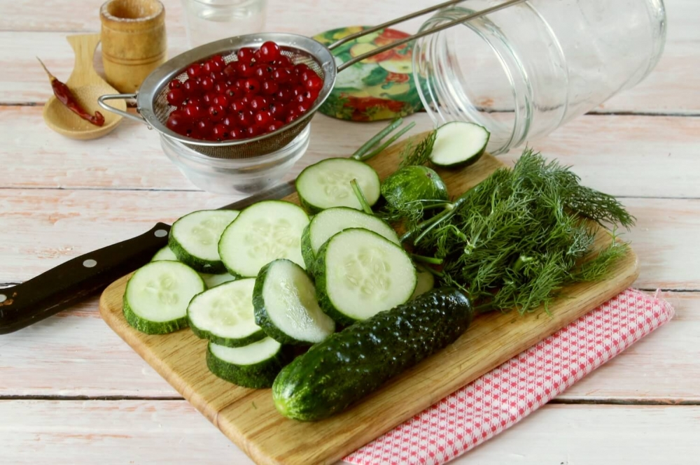 Marinated Cucumbers with Red Currant