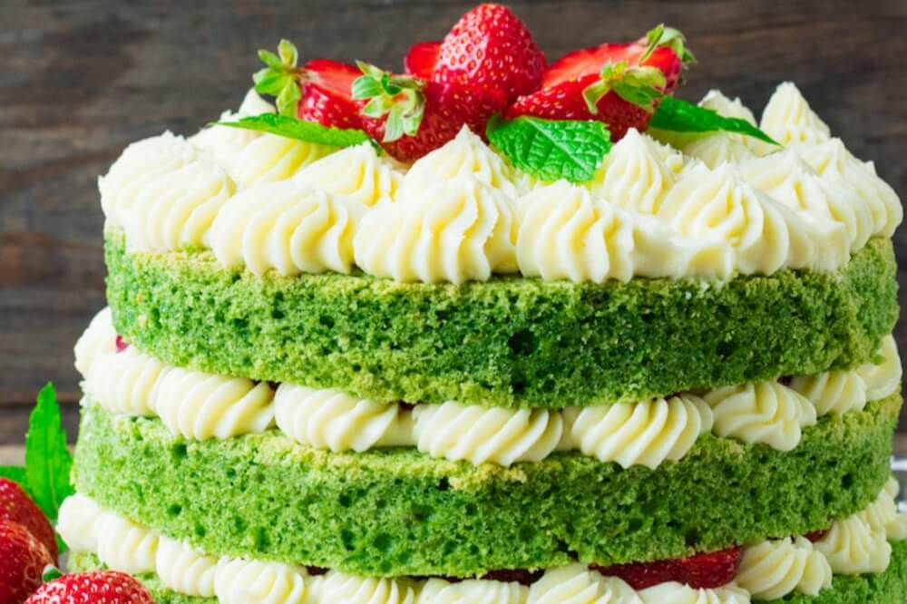 Strawberry Spinach Cake