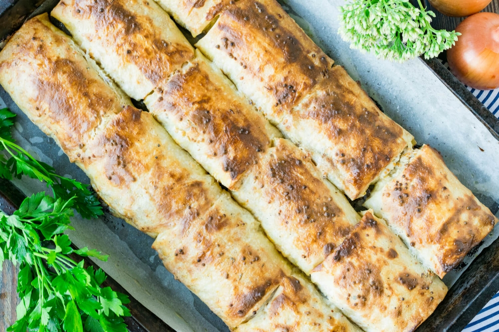 Mackerel Shawarma Lavash. Full of spice and easy to make