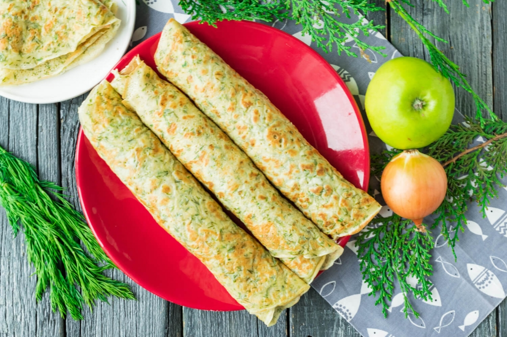 Herring and Apples Pancakes Rolls