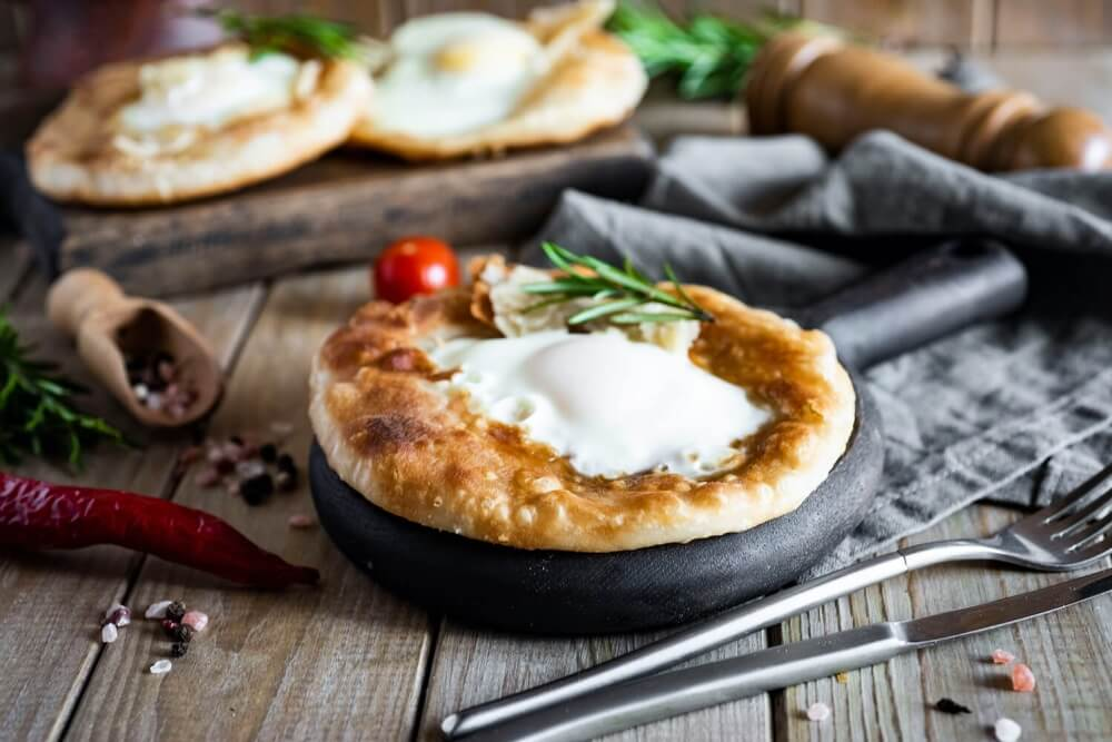 Chinese Flatbread with Roasted Egg