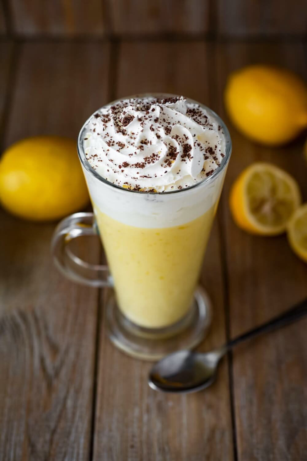 Lemon Mousse with Whipped Cream