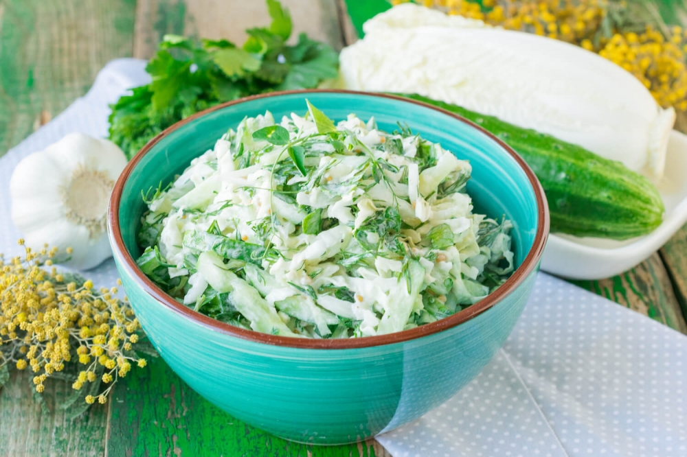 Chinese Cabbage and Cucumber Salad
