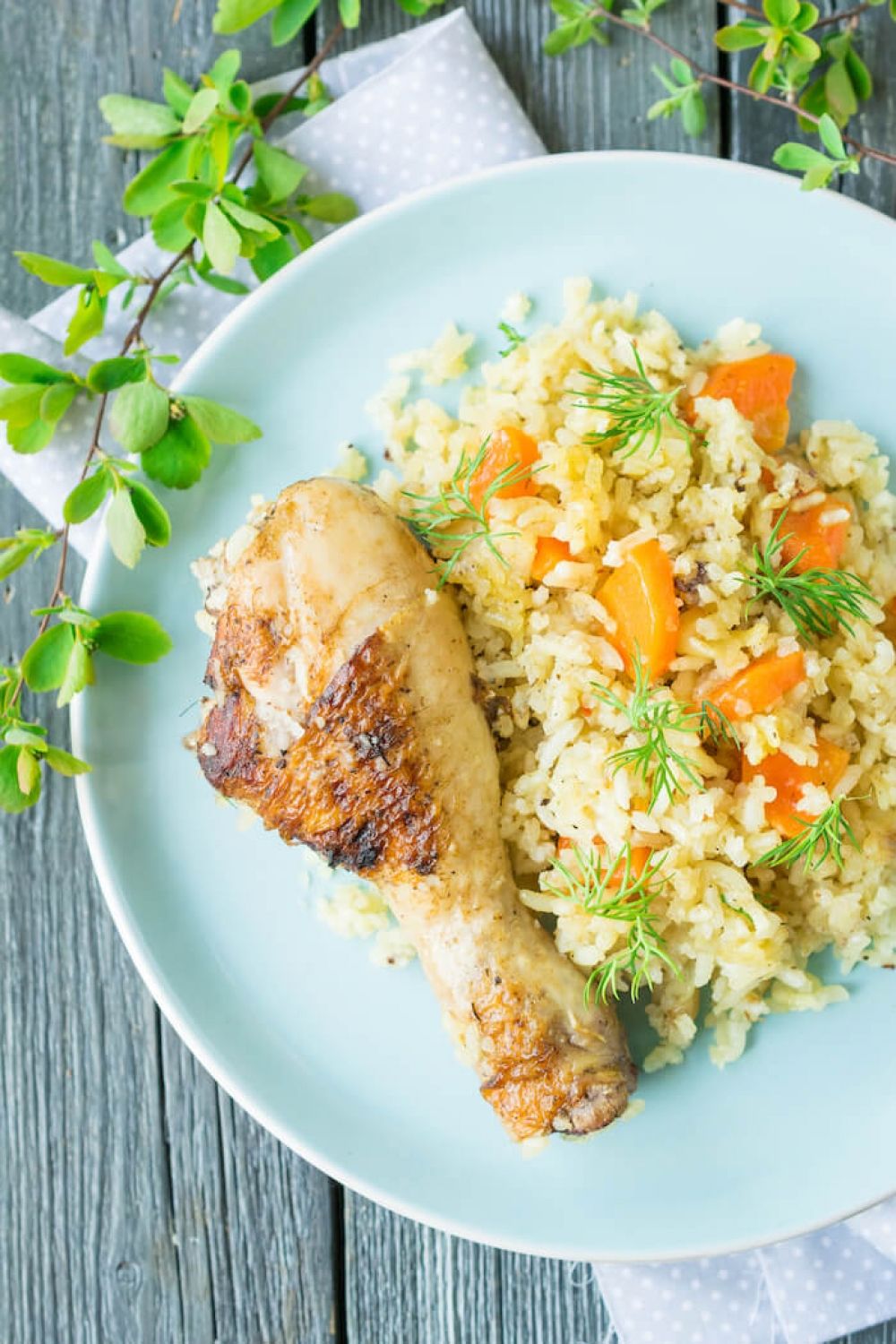 Oven Baked Chicken with Rice