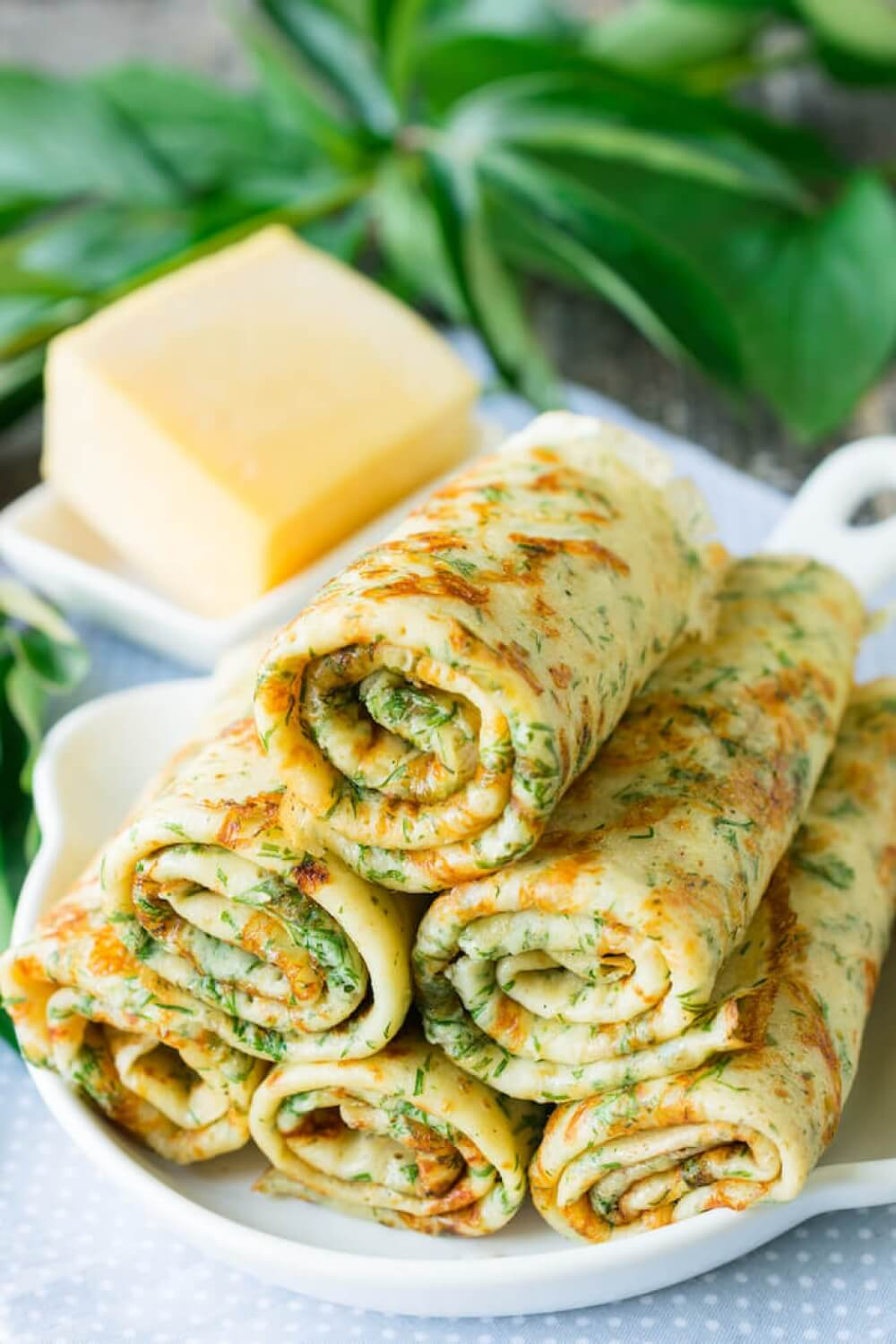 Dill Cheese Pancakes