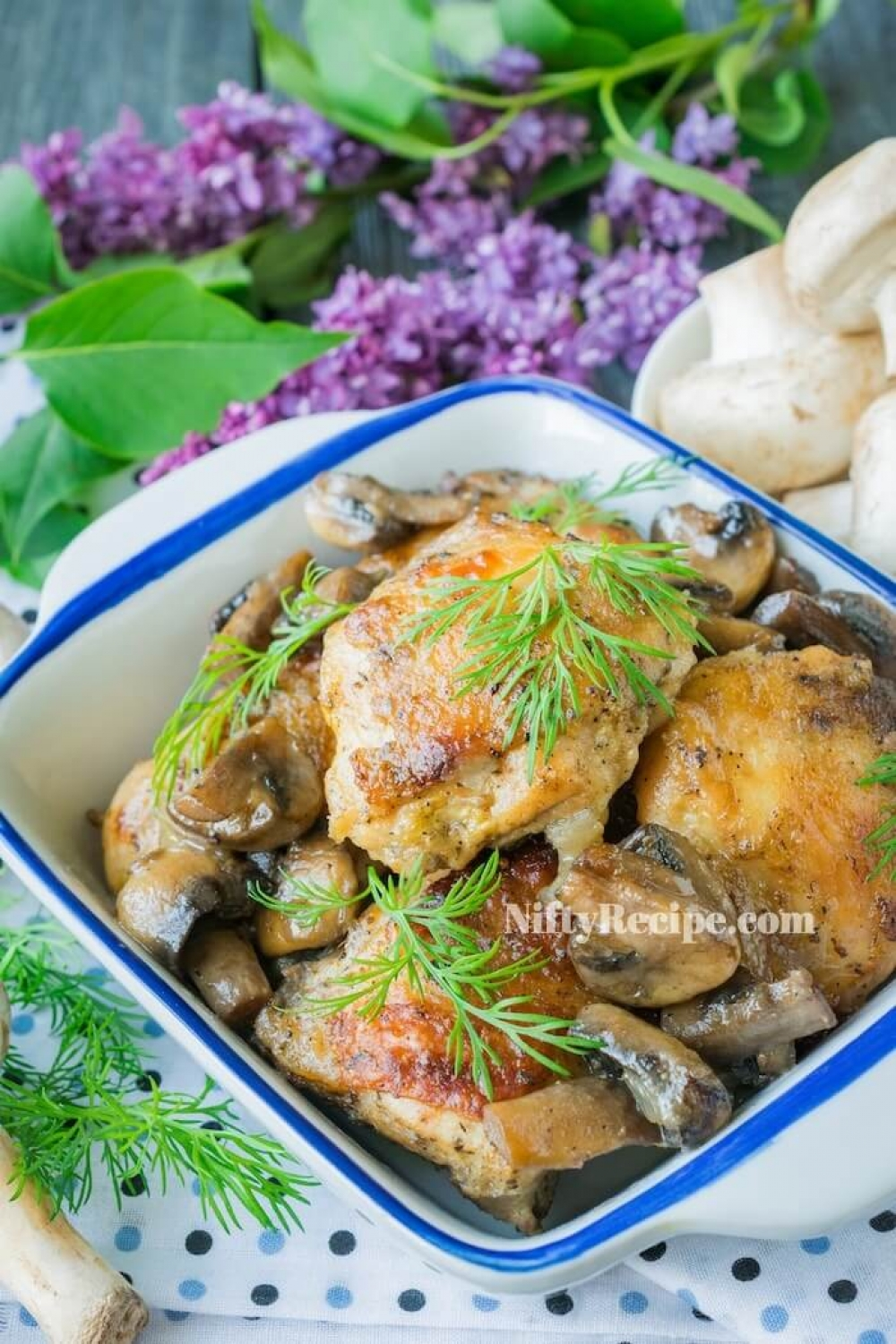 Baked Chicken with Mushrooms
