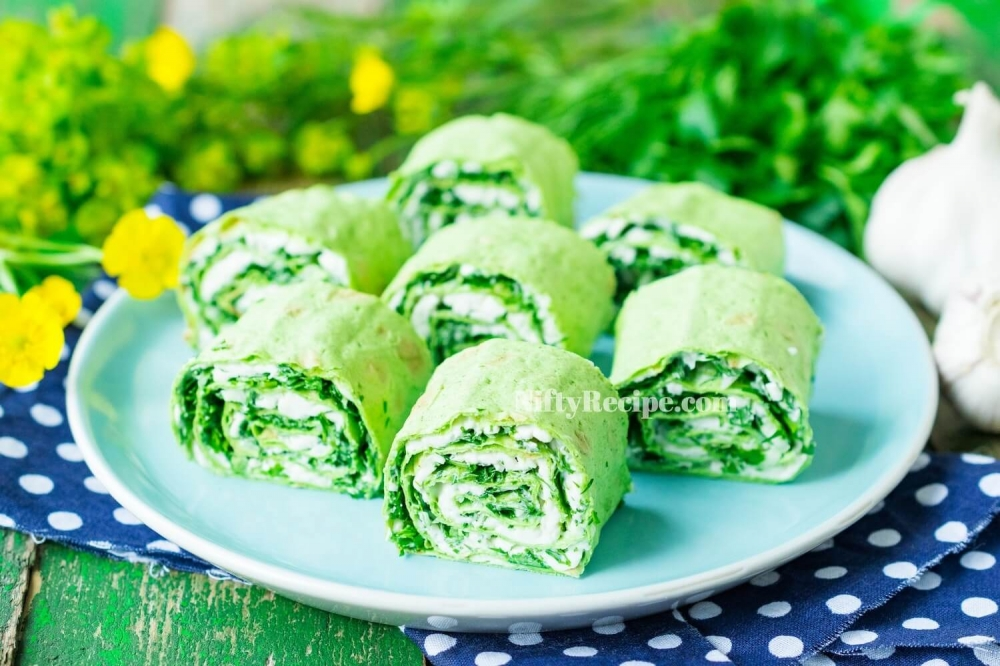 Lavash Bread Roll with Greenery