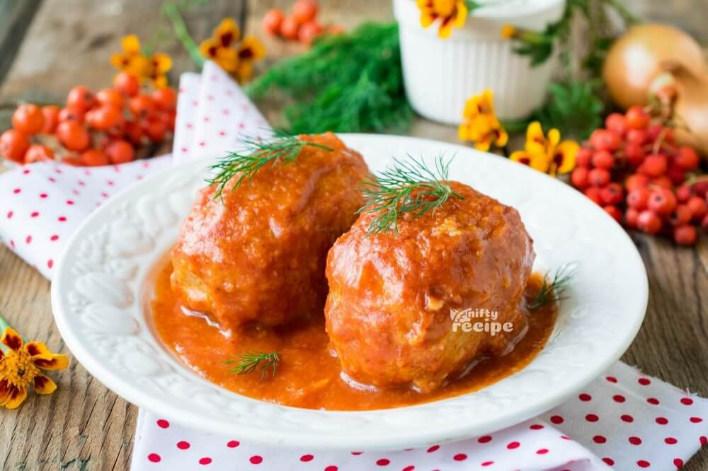 Lazy Stuffed Cabbage in Tomato Sauce