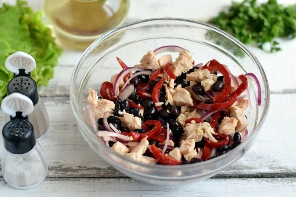 Black Bean Salad in a Spicy Dressing